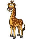 Bande dessinée de girafe Images stock