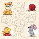 Illustration de vecteur de bande dessinée de labyrinthe d'éducation illustration libre de droits