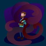 Illustration de vecteur de bande dessinée de métaphore de Pandora Box Photo stock