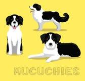 Illustration de vecteur de bande dessinée de Mucuchies de chien illustration stock