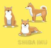 Illustration de vecteur de bande dessinée de Shiba Inu de chien illustration de vecteur