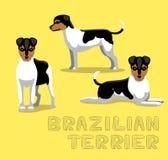 Illustration de vecteur de bande dessinée de Terrier de Brésilien de chien illustration stock