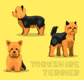 Illustration de vecteur de bande dessinée de Yorkshire Terrier de chien Photos libres de droits