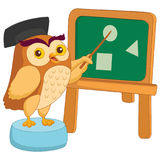 Illustration de vecteur de bande dessinée Owl Teacher Photo libre de droits