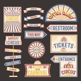 Illustration de vecteur de bannière de label de vintage de cirque Image libre de droits