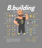 Illustration de vecteur de bodybuilding Images libres de droits