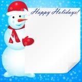 Illustration de vecteur de bonhomme de neige. Images stock