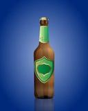 Illustration de vecteur de bouteille à bière avec le vert Photographie stock