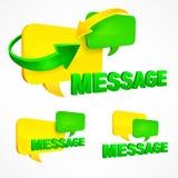 Illustration de vecteur de bulles de la parole de message Images libres de droits