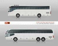 Illustration de vecteur de bus touristiques Photos libres de droits