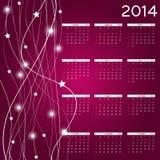 illustration de vecteur de calendrier de la nouvelle année 2014 Photos stock