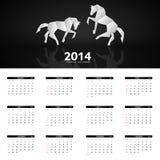 illustration de vecteur de calendrier de la nouvelle année 2014 Images libres de droits
