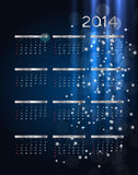 illustration de vecteur de calendrier de la nouvelle année 2014 illustration de vecteur