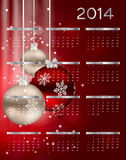 illustration de vecteur de calendrier de la nouvelle année 2014 illustration stock