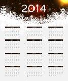 illustration de vecteur de calendrier de la nouvelle année 2014 Photographie stock