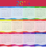 Illustration de vecteur de 2016 calendriers An neuf Image stock