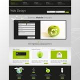 Illustration de vecteur de calibre de site Web d'Eco Photo libre de droits