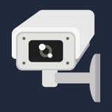 Illustration de vecteur de caméra web sur le blanc Images libres de droits