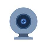 Illustration de vecteur de caméra web sur le blanc Photographie stock libre de droits
