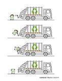 Illustration de vecteur de camion à ordures illustration stock