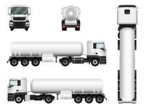 Illustration de vecteur de camion-citerne aspirateur sur le blanc Image stock