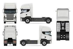 Illustration de vecteur de camion de tracteur Photos libres de droits