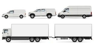 Illustration de vecteur de camions et de fourgons Photo libre de droits
