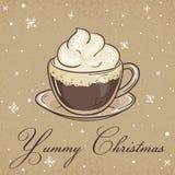 Illustration de vecteur de carte de papier d'emballage de Noël Image stock