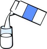 illustration de vecteur de carton et en verre de lait Photographie stock libre de droits