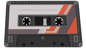 Illustration de vecteur de cassette de bande. Image stock