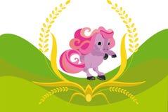 Illustration de vecteur de cheval coloré, poney Image libre de droits