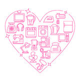 Illustration de vecteur de coeur de cadre d'appareils Photo stock