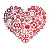 Illustration de vecteur de coeur faite de roues dentées Images libres de droits