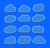 Illustration de vecteur de collection de nuages Images stock