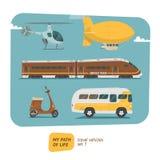 Illustration de vecteur de collection de véhicules Photo libre de droits
