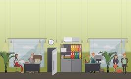 Illustration de vecteur de concept d'entrevue d'emploi dans le style plat illustration libre de droits