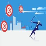 Illustration de vecteur de concept de but d'affaires illustration stock