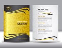 Illustration de vecteur de conception de rapport annuel de couverture d'or illustration de vecteur