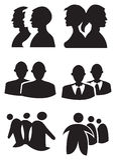 Illustration de vecteur de conception de silhouette de personnes illustration libre de droits