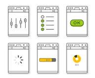 Illustration de vecteur de constructeur de site Web Image libre de droits