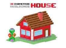 Illustration de vecteur de construction de logements de famille Images libres de droits