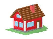 Illustration de vecteur de construction de logements de famille Image libre de droits