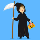 Illustration de vecteur de costume de faucheuse de Halloween illustration libre de droits