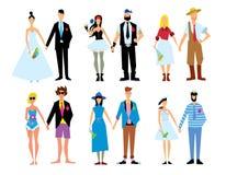 Illustration de vecteur de couples de mariage Photographie stock