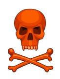 Illustration de vecteur de crâne et de bande dessinée d'os croisés Images stock