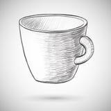 Illustration de vecteur de croquis de tasse Photographie stock libre de droits
