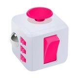 Illustration de vecteur de cube en personne remuante images stock