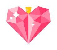 Illustration de vecteur de décoration de coeur de concept d'amour Photographie stock libre de droits