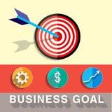 Illustration de vecteur de but de cible d'affaires Image libre de droits