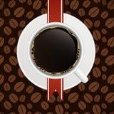 Illustration de vecteur de descripteur de carte de café Photo libre de droits